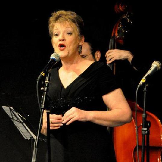 "Singing ""Come Rain or Come Shine"" for an Awards Show/Fundraiser at Lakewood Playhouse in March 2012."